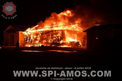 SERVICE DES INCENDIES DE LA VILLE D'AMOS: 2018-07-09 - Incendie de bâtiment (Institutionnel) - Amos - Maison des jeunes &emdash;